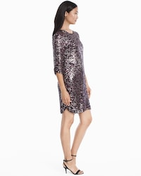 9498aed3468d ... Petra 3/4-Sleeve Sequin Shift Dress thumbnail image, click to view  larger ...