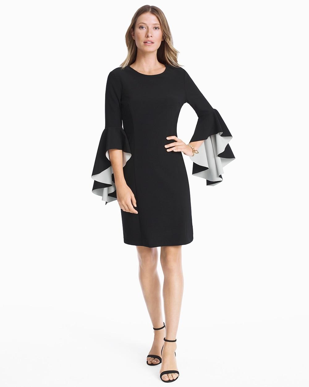 Black White Bell Sleeve Sheath Dress White House Black Market