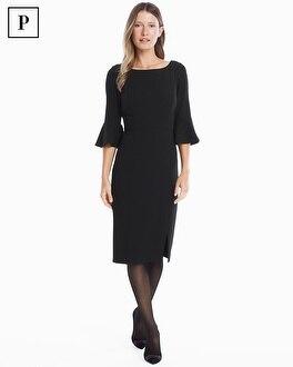 White House Black Market Petite Body-Perfecting Ruffle Three-Quarter-Sleeve Sheath Dress at White House | Black Market in Sherman Oaks, CA | Tuggl