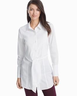 5fb6268c White Poplin Tie-Front Shirt - White House Black Market