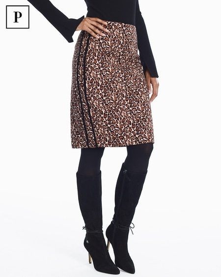 Petite Leopard Pencil Skirt