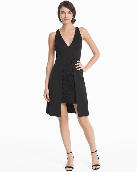 Textured Black Slip Dress White House Black Market