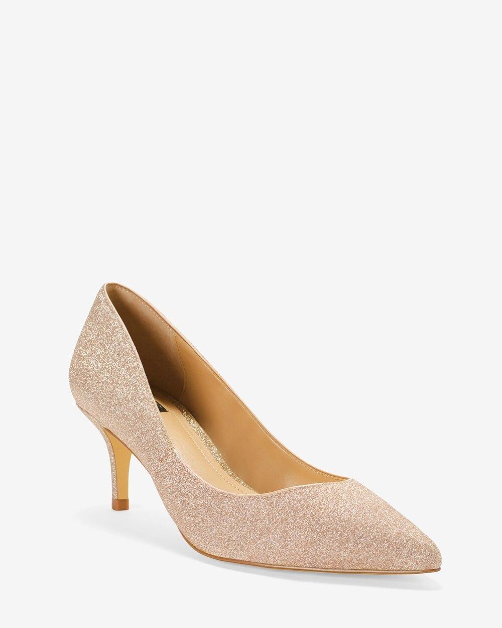 3c030c4e31d Glitter Kitten Heels - White House Black Market