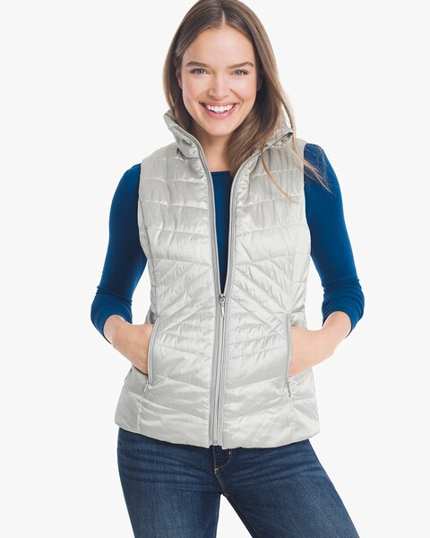 Womens Quilted Vest By White House Black Market