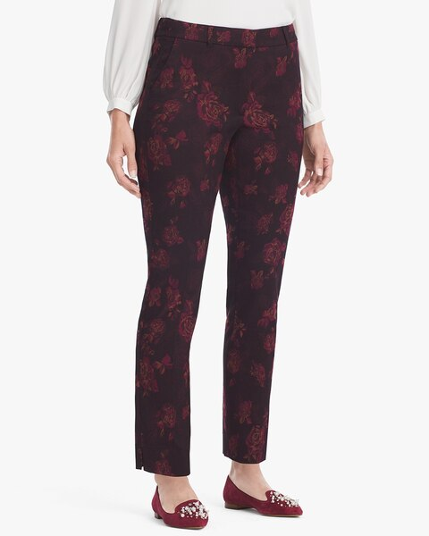 Exclusively Ours - Womens Plus Size Slim Cut Pull On Pants