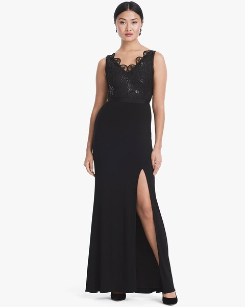 Sleeveless Lace Gown - White House Black Market