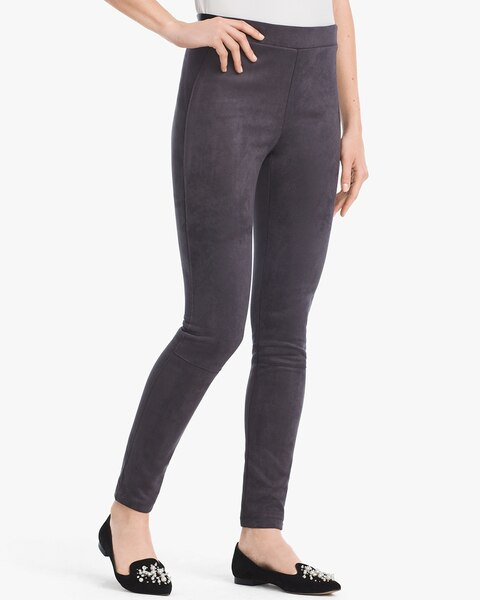 Womens Suede Leggings By White House Black Market