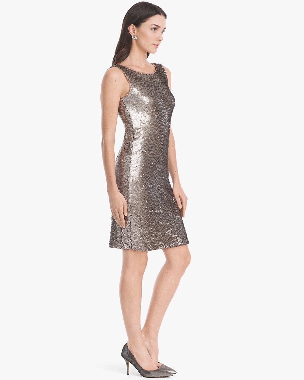 Sleeveless Sequin Shift Dress White House Black Market