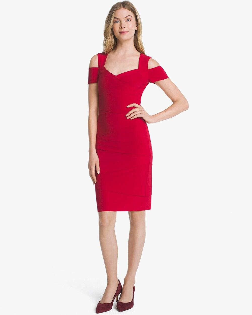 ad4649f6273 Cold-Shoulder Instantly Slimming Dress - White House Black Market