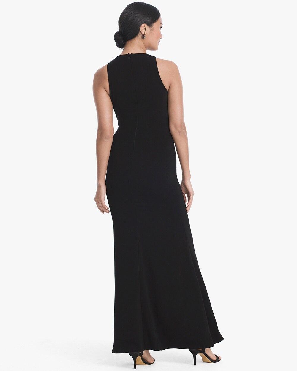 Black & White Flounce Gown - White House Black Market