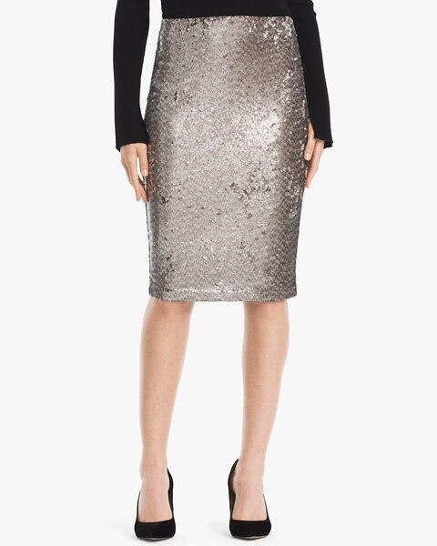 4db747e6b1fc Return to thumbnail image selection Sequin Pencil Skirt video preview  image, click to start video