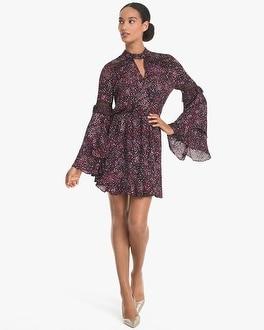 White House Black Market Cecilia Silk Pleat-Sleeve Blouson Dress at White House | Black Market in Sherman Oaks, CA | Tuggl