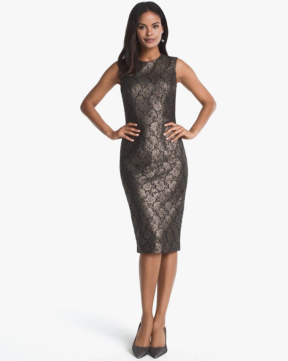 397efb98043 Sleeveless Lace Sheath Dress - White House Black Market