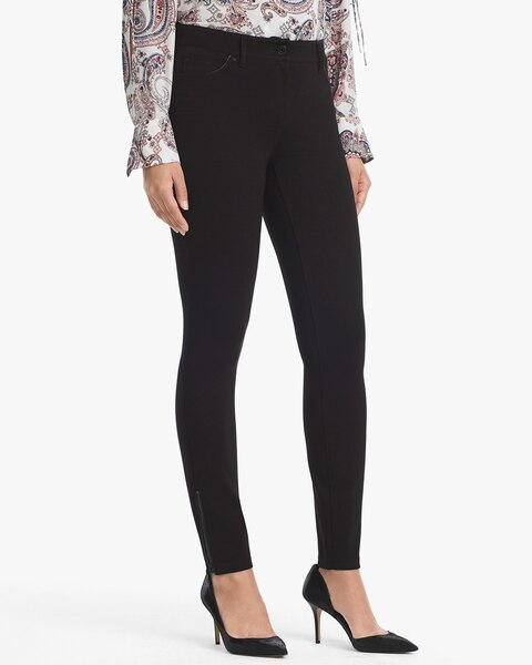 Womens Ponte Skinny Ankle Zip Pants By White House Black Market