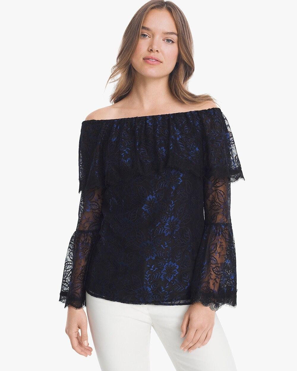 f175d37f02 Off-the-Shoulder Lace Top - White House Black Market