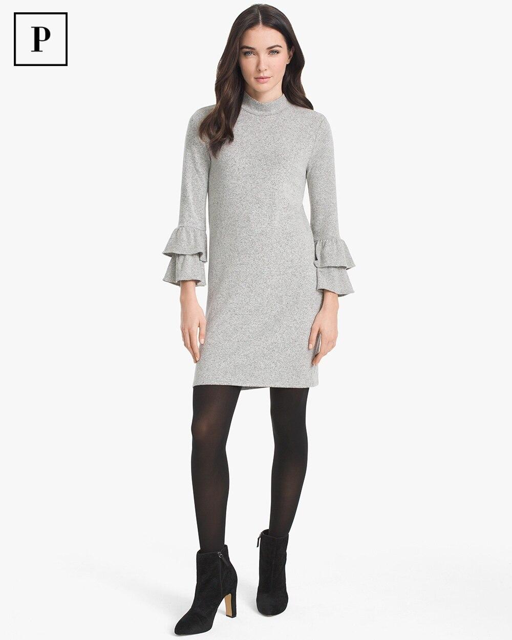 Petite Tiered Sleeve Sweater Dress White House Black Market