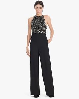 White House Black Market Beaded Bodice Jumpsuit at White House | Black Market in Sherman Oaks, CA | Tuggl