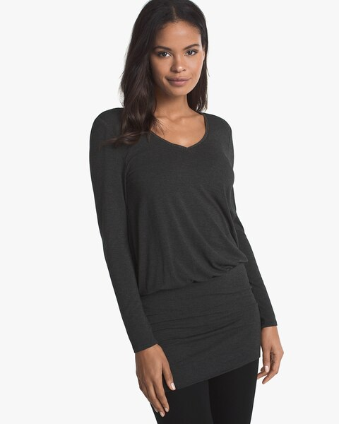 d6ce75135f6 Long-Sleeve Banded Bottom Tunic - Shop New Arrivals on Tops for Women -  White House Black Market