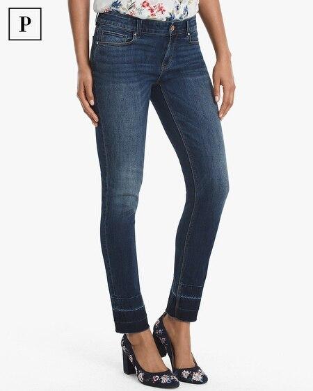 Petite Released-Hem Slim Ankle Jeans