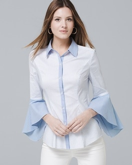 Sophia Stripe Shirt by Whbm