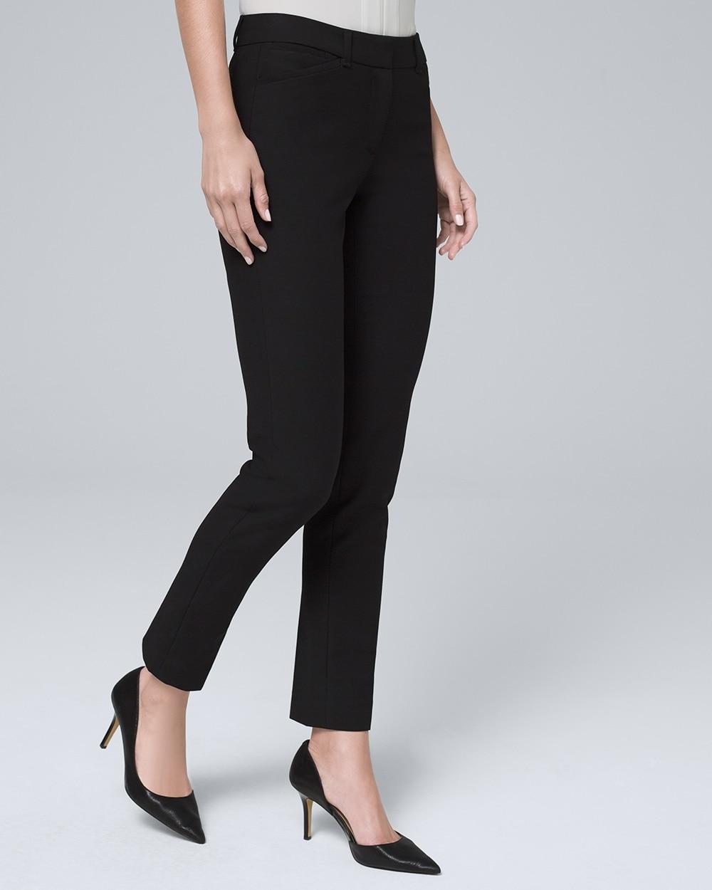 comfort stretch slim ankle pants white house black market