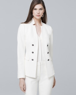 White House Black Market Notched-Collar Suiting Jacket at White House | Black Market in Sherman Oaks, CA | Tuggl