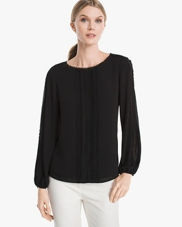 Jean Lace Front Blouse by Whbm