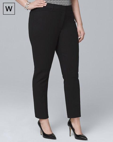 Plus Comfort Stretch Slim Ankle Pants