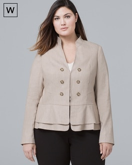 White House Black Market Plus Textured Suiting Jacket at White House | Black Market in Sherman Oaks, CA | Tuggl