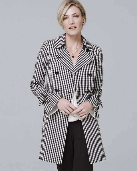 844a82a2cd5 Gingham Trench Coat - White House Black Market
