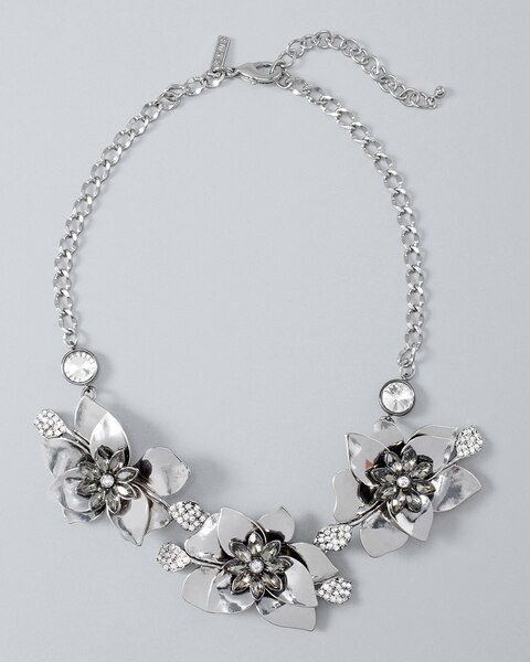 Shop womens new arrivals white house black market flower statement necklace mightylinksfo