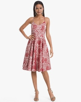 Rose Jacquard Fit And Flare Dress by Whbm