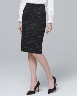 Diamond Dot Pencil Skirt by Whbm