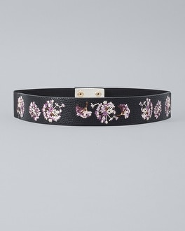 Embroidered Stretch Belt by Whbm