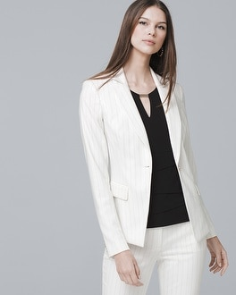 White House Black Market Pinstripe Suiting Blazer Jacket at White House | Black Market in Sherman Oaks, CA | Tuggl