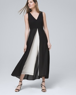 Sleeveless Overlay Jumpsuit by Whbm