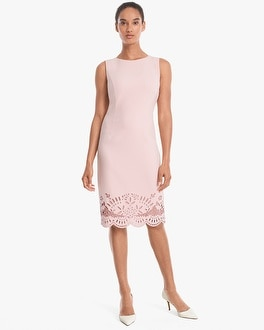 White House Black Market Sleeveless Embroidered-Hem Sheath Dress at White House | Black Market in Sherman Oaks, CA | Tuggl