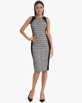 White House Black Market Body Perfecting Tweed with Ponte Inset Sheath Dress at White House | Black Market in Sherman Oaks, CA | Tuggl