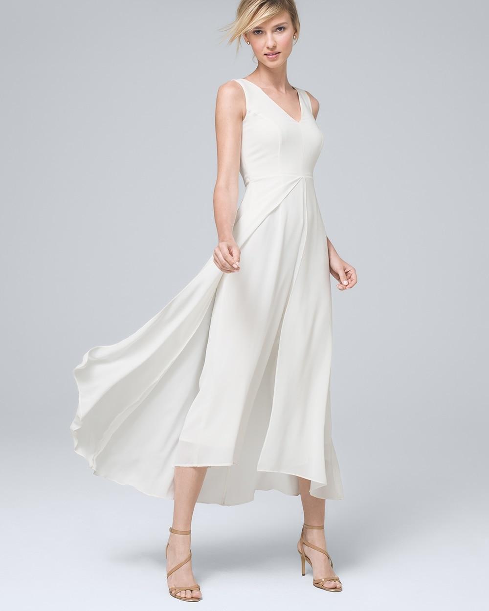 f3eaeb366bfc Sleeveless Overlay Jumpsuit - White House Black Market