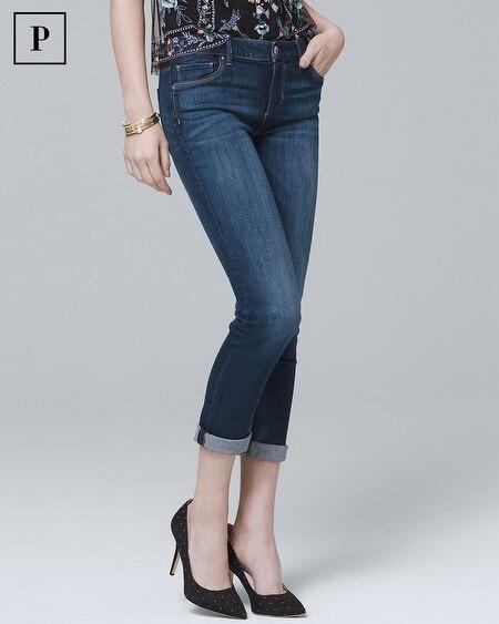 Petite Classic-Rise Slim Crop Jeans