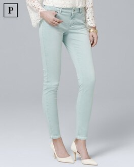 Petite Mid-Rise Skinny Ankle Jeans | Tuggl