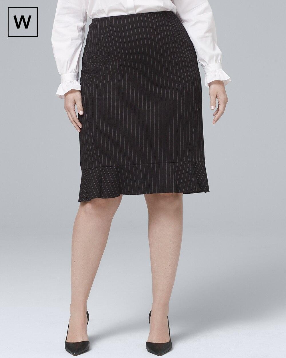 3b65e4187 Plus Pinstripe Pencil Skirt - White House Black Market