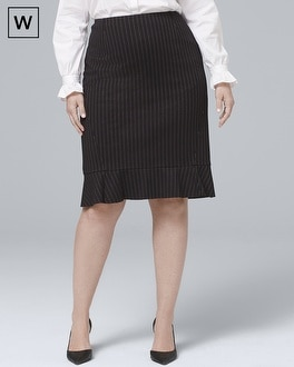 White House Black Market Plus Pinstripe Pencil Skirt at White House | Black Market in Sherman Oaks, CA | Tuggl