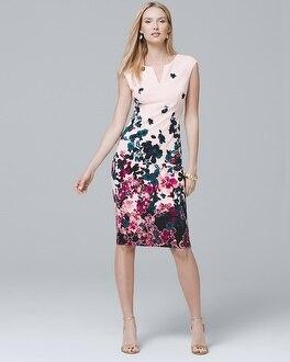 White House Black Market Sleeveless Floral Printed Sheath Dress at White House | Black Market in Sherman Oaks, CA | Tuggl