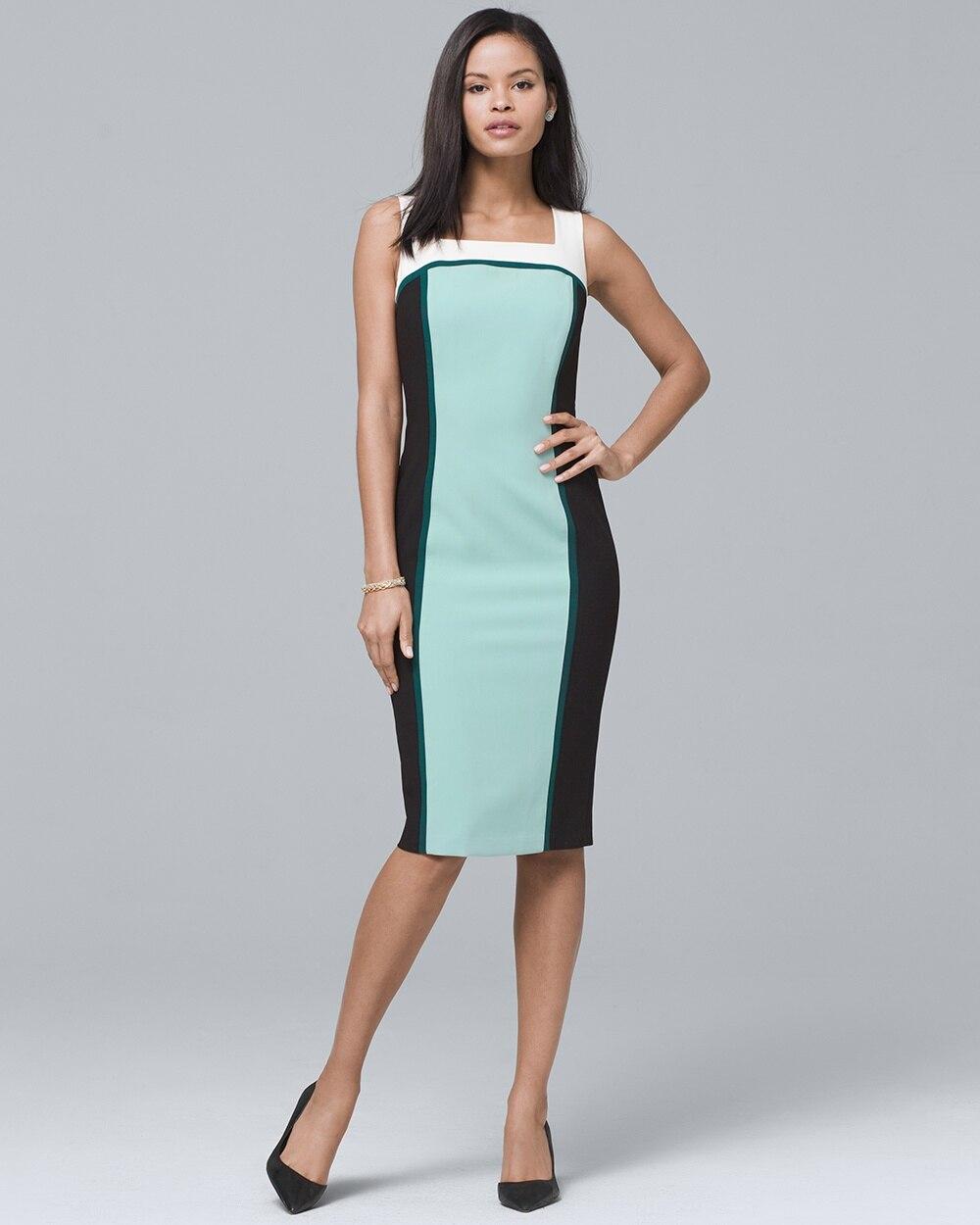 White House Black Market Colorblock Dress