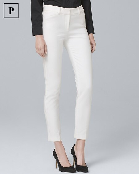 Petite Comfort Stretch Slim Ankle Pants