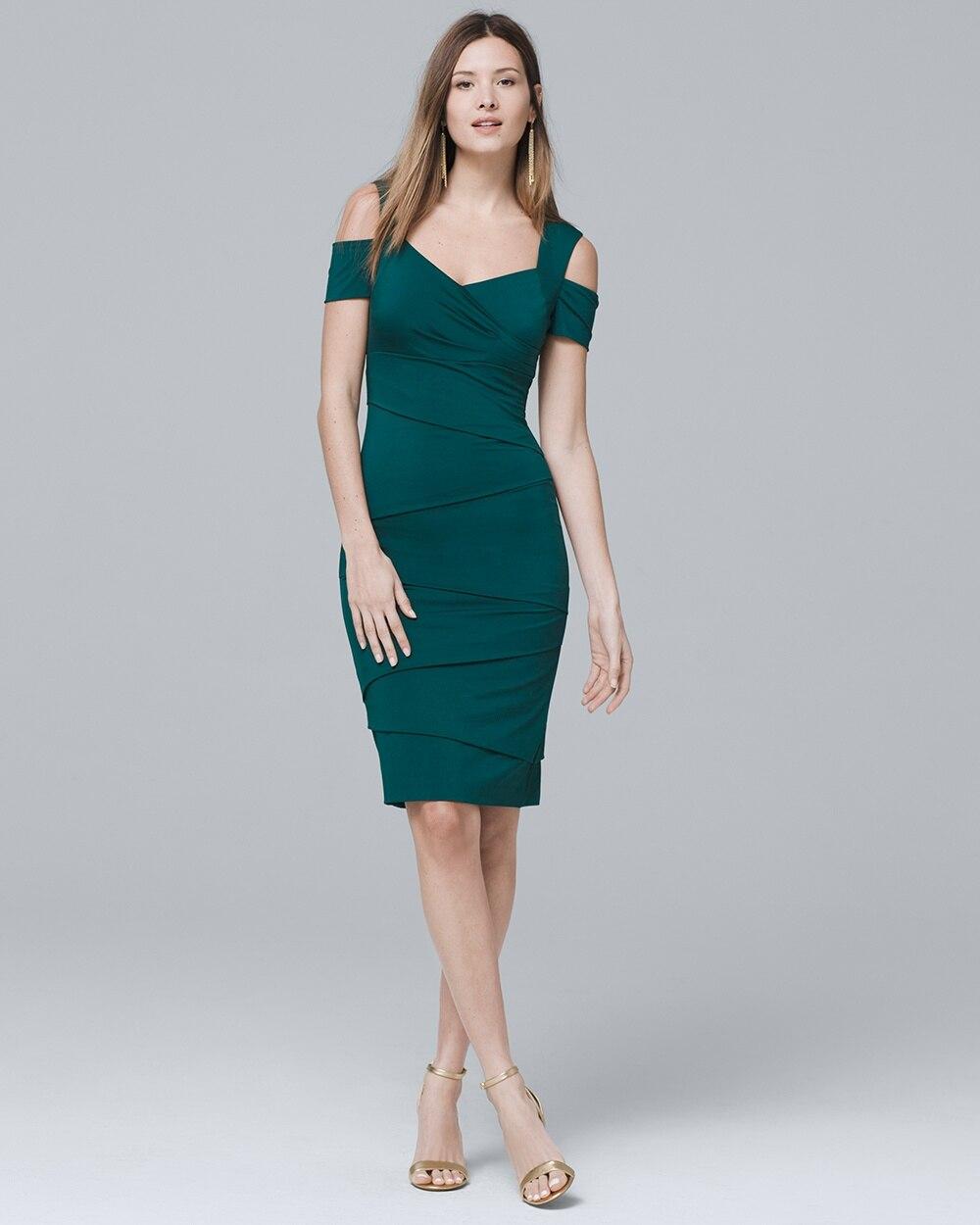 52e79f20f3798 Cold-Shoulder Instantly Slimming Dress - White House Black Market