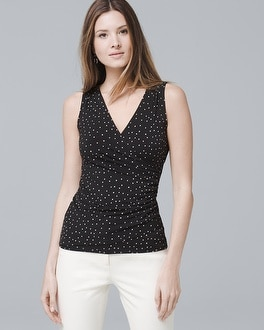 Dot Surplice Knit by Whbm