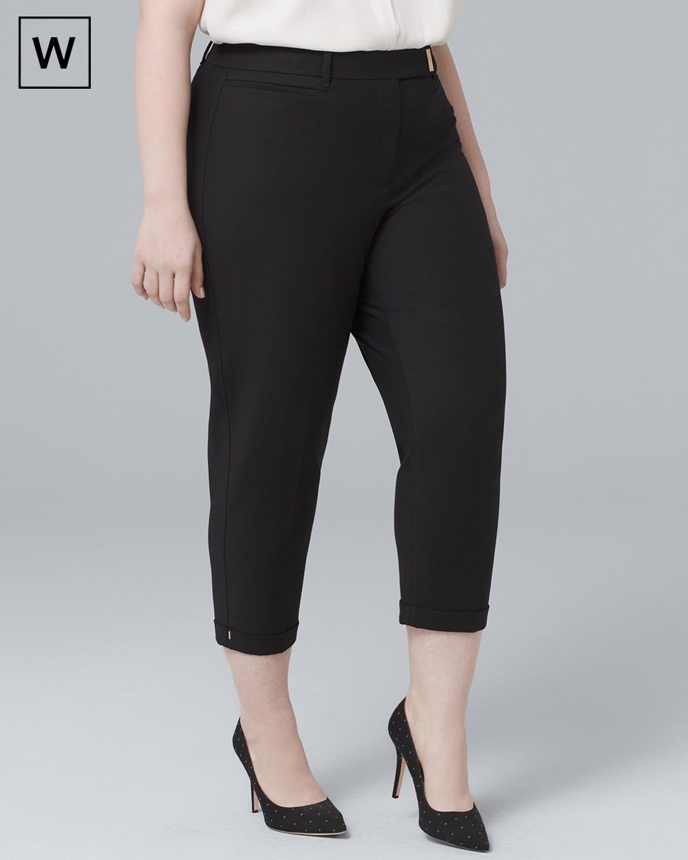 Plus Slim Crop Pants