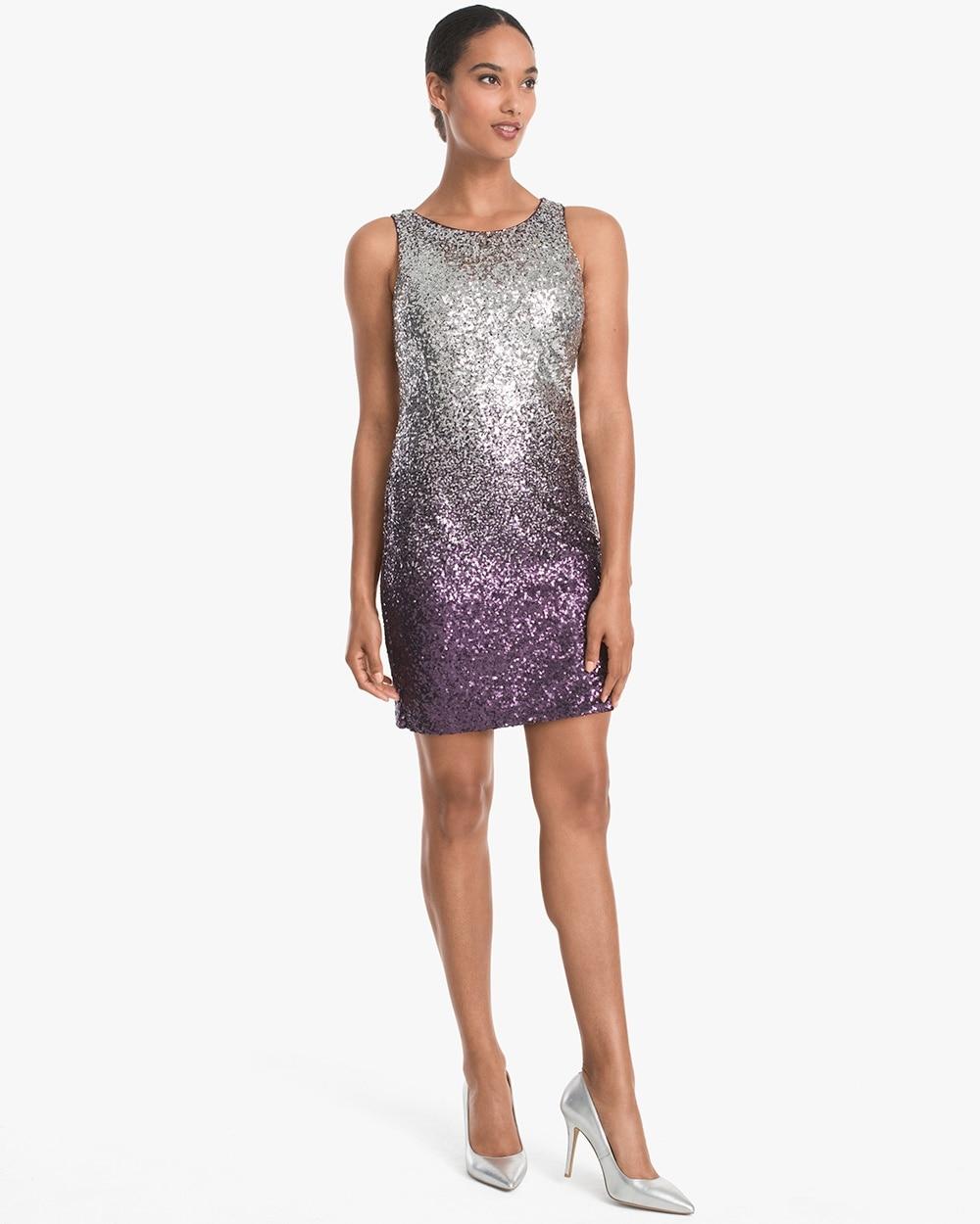 Ombre Sequin Shift Dress White House Black Market